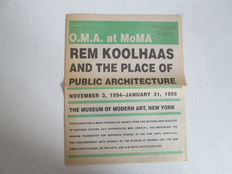 "Rem Koolhaas – ""O.M.A. at MoMA: Rem Koolhaas and the Place of Public Architecture"" – 1994"