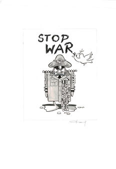 Fernandez, Tony - Original drawing - Stop War - Donald Duck