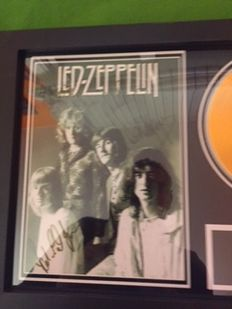 Framed Record Signed (Printed) by Led Zeppelin