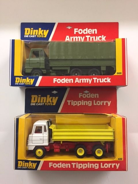 Dinky Toys - 1:43 - Foden Army Truck en Foden Tipping Truck. - No.432 en No. 668