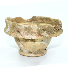 Ancient Roman Glass Cup - 70 x 35 mm