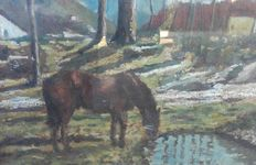 Unknown artist – Horse – From the 1950s