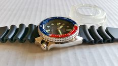Seiko 4205 Pepsi Diver's watch, 1980s, with case protector