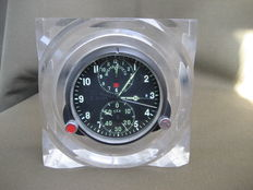 Pilot's clock for the MiG-29 fighter jet - vintage in original case (СССР/USSR). The second half of the 20th century.