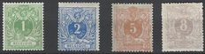 Belgium – OBP nos. 26 to 29 – Lying lion with coat of arms
