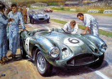 """Feltham Flyers"" - Goodwood 1956 - Aston Martin DB3S/Roy Salvadori & Tony Brooks"