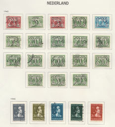 Netherlands 1940/1944 - collection war years NVPH 356 to 442 including 402B/403B