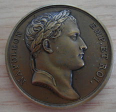 France - Medal 'Napoleon / The Conquest of Naples 1806' by Andrieu & Brenet