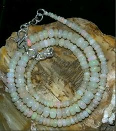 Opal necklace - 925 silver