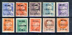 France 1944 – Liberation of Antibes, complete set of 12, signed Calves.