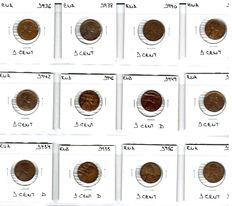 United States - Collection of 95 Lincoln pennies, 1936-2008 (95)