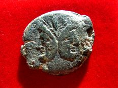 Roman Republic - Anonymous Janus as (19,20 g. 32 mm.). Minted in Rome between 194 - 190 B.C. Crescent series.