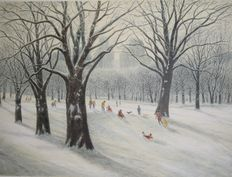 Harold Altman - At le mont editions: snow in Central Park