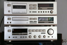 Luxman receiver R-341 CD player D351 and tape deck K-351.