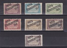 Czechoslovakia 1919 - Ordinary and Postage due stamps , surcharged