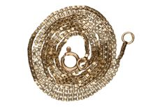 Yellow gold Venetian link necklace in 14 kt. Length: 46 cm