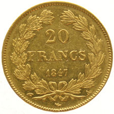 France - 20 Francs 1847A - Louis Philippe I - gold