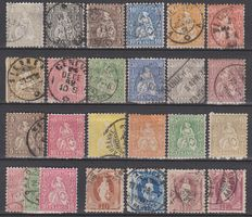 Switzerland 1862/1881 - Selection on stock cards