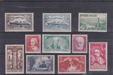 France 1935/1836 – Stamp selection – Yvert no. 299 to 308