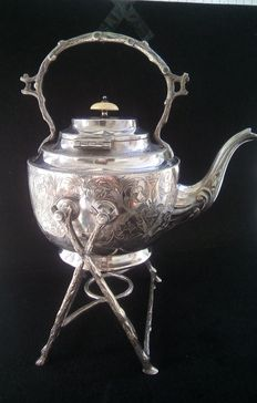 Samovar Sheffield silver /Kettle with trempe - England - 19th century