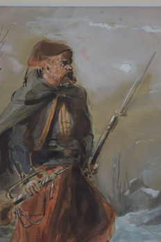 Dependant. (1835-?) - A soldier with rifle and bugle.
