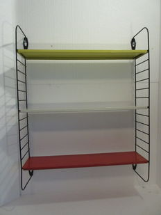 A. Dekker by Tornado - pocket bookshelf/wall rack in the authentic colours.