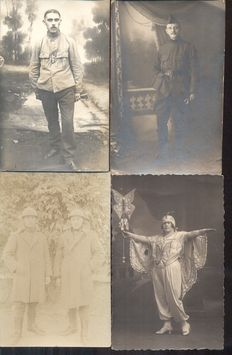 Unknown 196x; old and very old picture postcards with soldiers