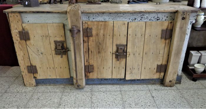 Very old, weathered and heavy outdoor kitchen cabinet, early 1900, The  Netherlands - Catawiki