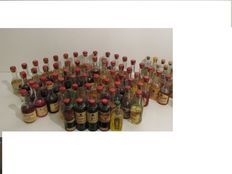 84 miniature bottles - liqours and genevers from the 1940s and 1950s