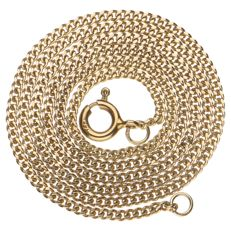14 kt yellow gold curb link necklace - 42 cm