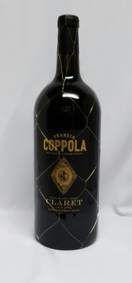 "3 liter ( 3000 ml ) 2014 Francis Ford Coppola Diamond Collection Black Label ""Claret"" Cabernet Sauvignon 13.5% alc."