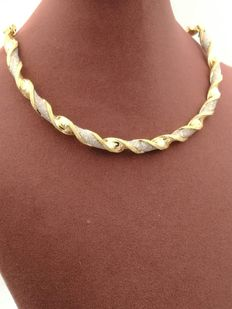 Stunning limited edition necklace in gold, with Swarovski crystals Low reserve price