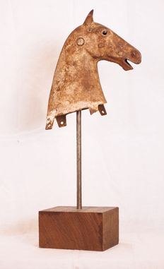 Antique Cast Horse Head (part of carousel)