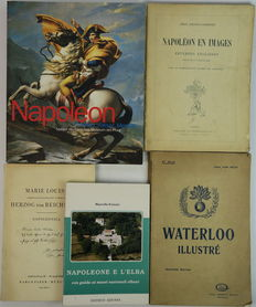 Napoleon; Lot with 5 books about him as a person and background
