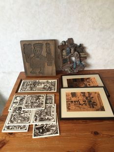 Bakery wall decorations - wood-fired - copper engravings-wall tiles