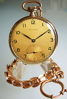 Eterna men's pocket watch from 1950