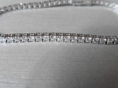 18k Gold Diamond Tennis Bracelet - 2.26ct  J, VS2