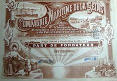 France - Maritime Company of the Seine - regular service - 1899.