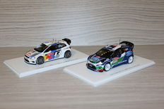 Spark - Schaal 1/43 - Volkswagen Polo WRC #7 & Ford Fiesta RS #3