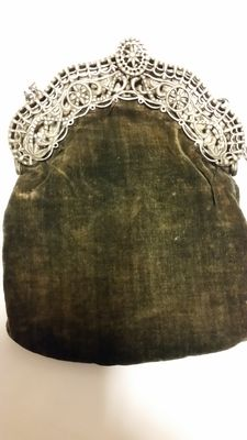 Antique silver pouchbag, Groningen, 18th century