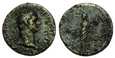 Roman Empire - Domitian (81-96 AD) - Æ Dupondius (27 mm; 13,62 g), struck c. 95-96 AD - Rome mint - Radiate bust / Fortuna - RIC 753