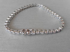 18k Gold Diamond Tennis Bracelet - 3.10ct I, Si1