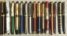 Fifteen (15) exclusive Fountain Pens with different unique and beautiful designs + One Ballpoint Pen