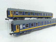 L.S. Models - 72013 - 2-piece set with passenger carriage od the SNCB