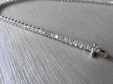 18k Gold Diamond Tennis Bracelet - 1.00ct  I, SI1