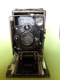 COMPUR bellows camera, complete with 2 Laack Rathenow lens plates (early 1900)