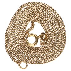 18k yellow gold curb link necklace - Length: 44 cm