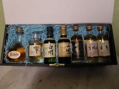 7 bottles of 50ml of Japanese whisky