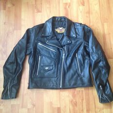 Original Harley-Davidson Motorcycle Jacket. Black Leather - Size M