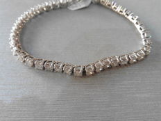 18k Gold Diamond Tennis Bracelet – 8.00ct  I-J, SI 1-2
